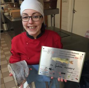Justine Tschaen du Rosenmeer est seconde au concours de la Choucroute d'Alsace garnie aux poissons 2016