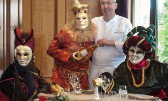 Menu italien à la Wynstub du Rosemeer pour le carnaval vénitien à Rosheim