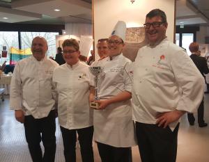 Camille Diebolt du Rosenmeer a gagné le trophée Art et Saveurs 2017 b